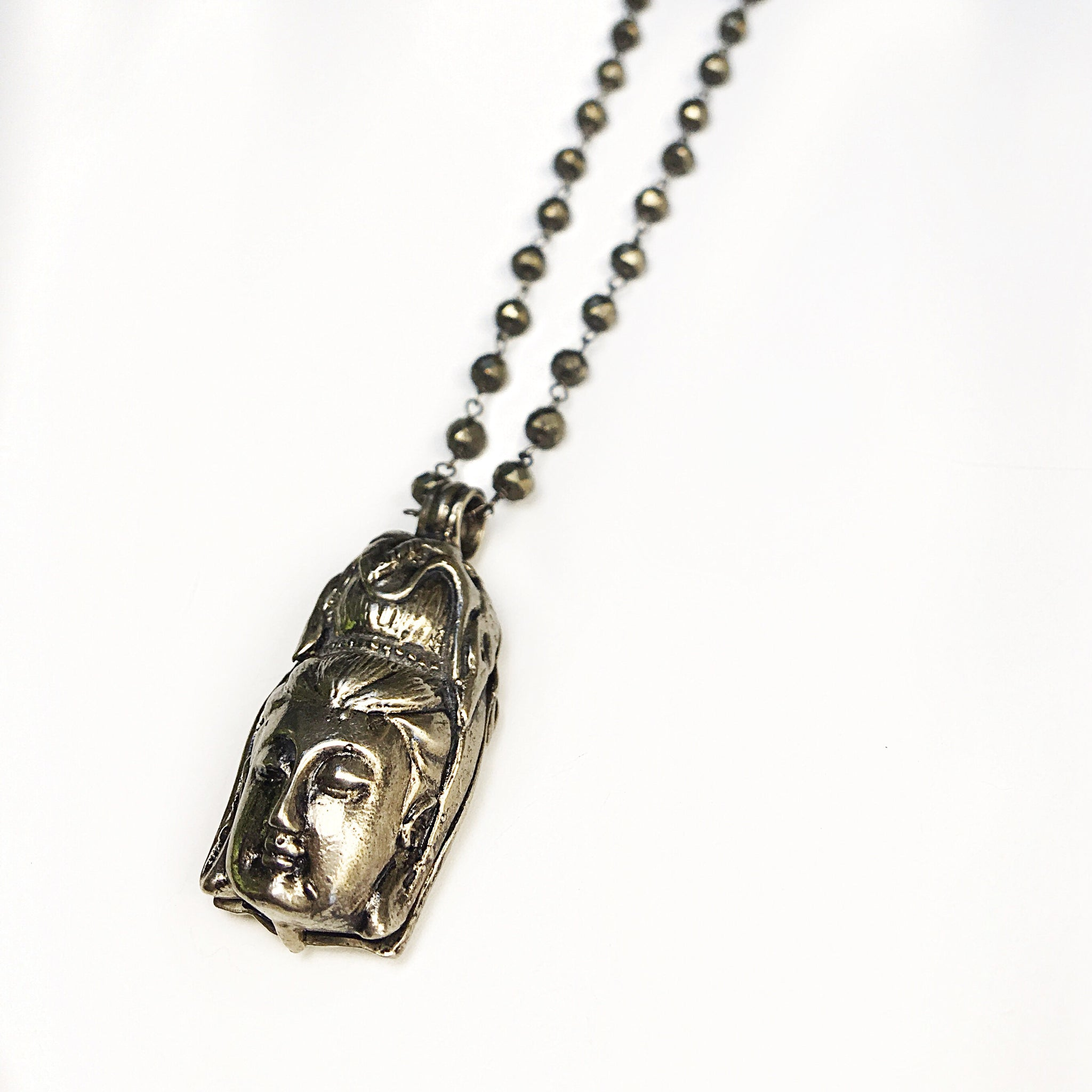 Quan Yin Locket Pendant Necklace