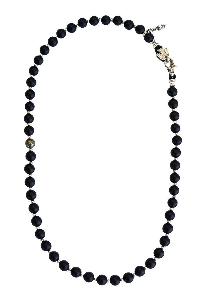 Clean Black Onyx Necklace