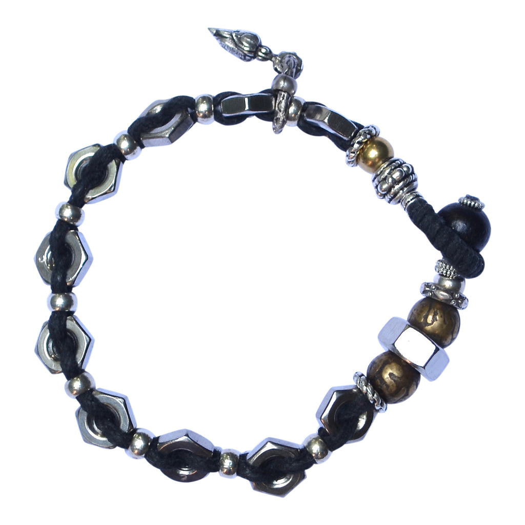 H and W Toggle Bracelet