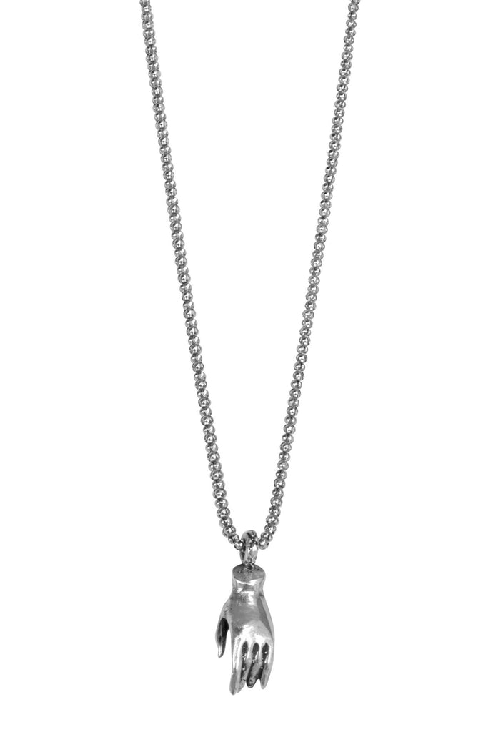 Small Sterling Compassion Hand On Chain