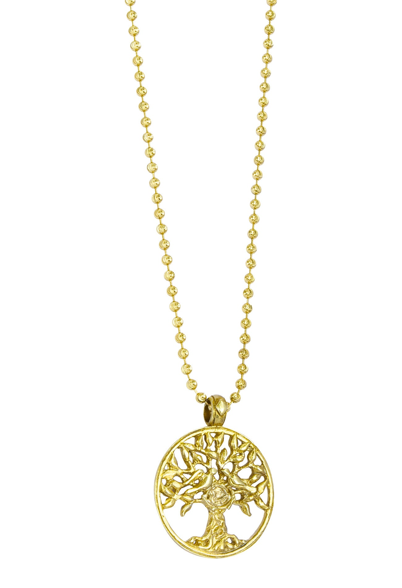Medium Gold Tree Of Life Chain Necklace