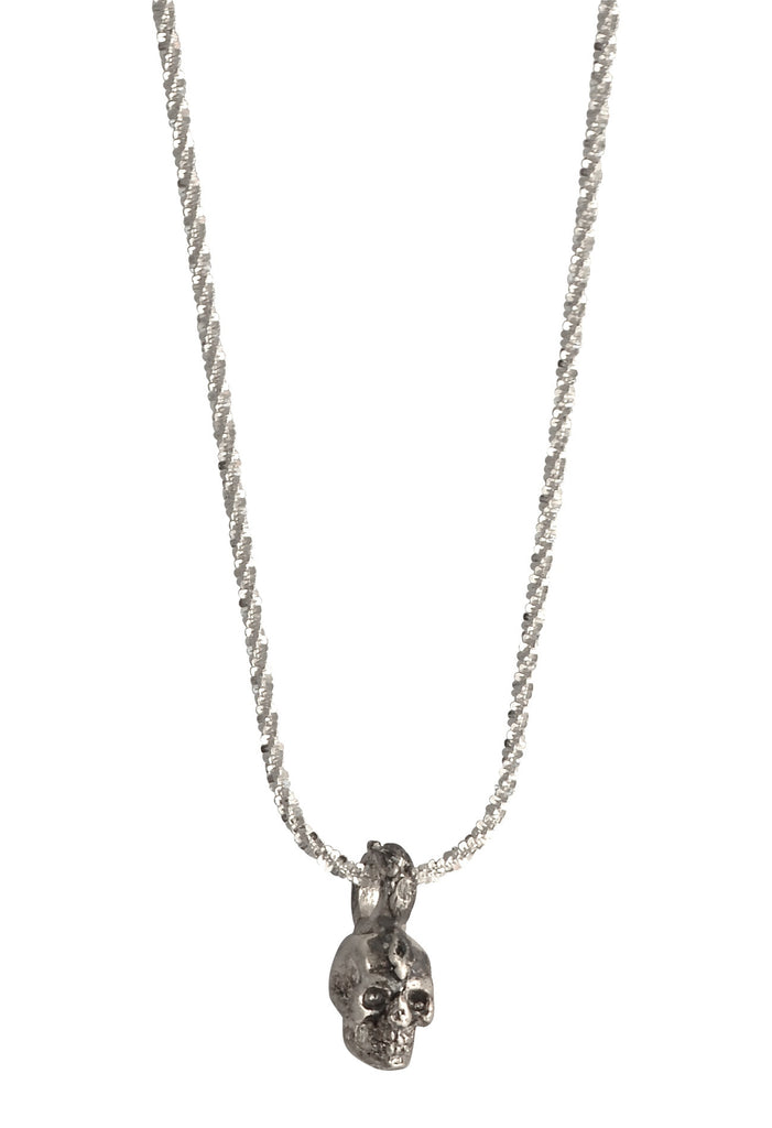 Mini Sterling Skull Adjustable Necklace