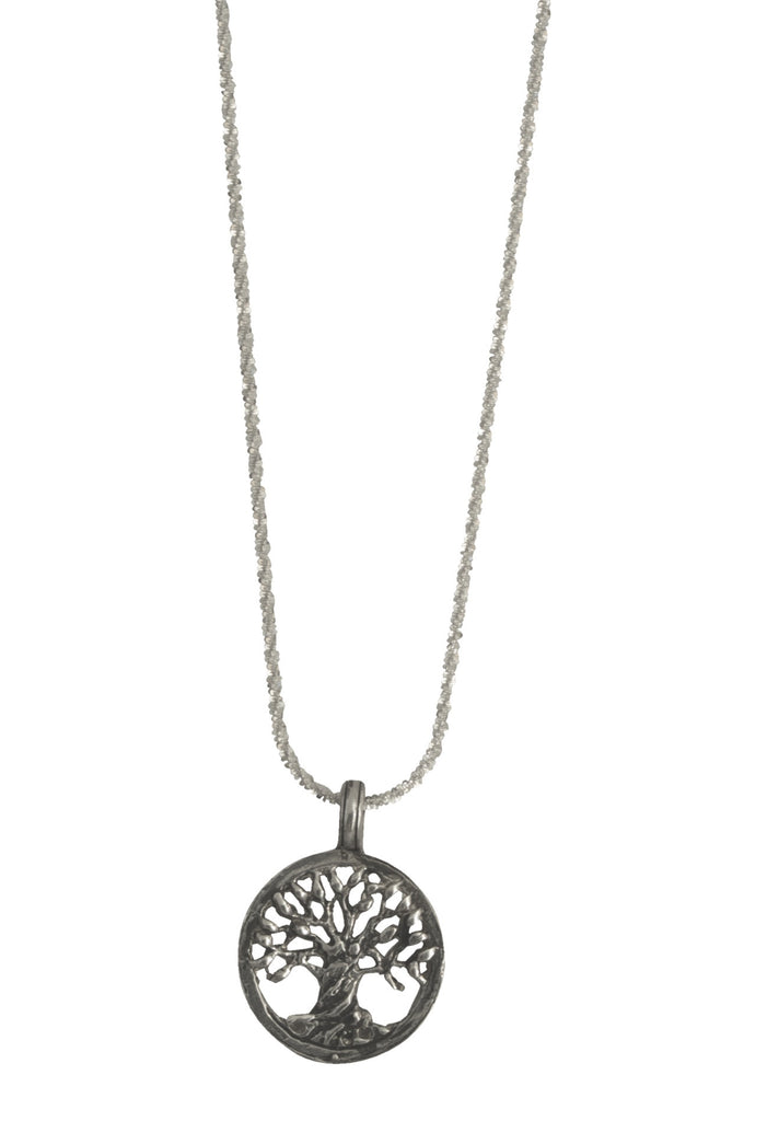 Small Tree Of Life On Adjustable Sterling Chain