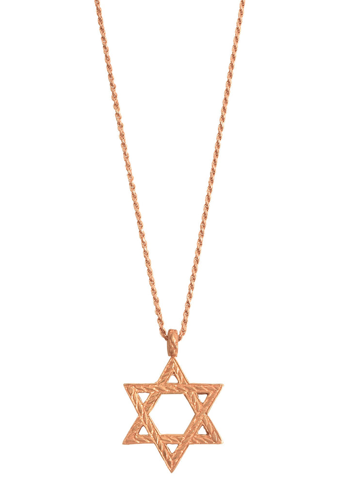 Rose Gold Star Of David