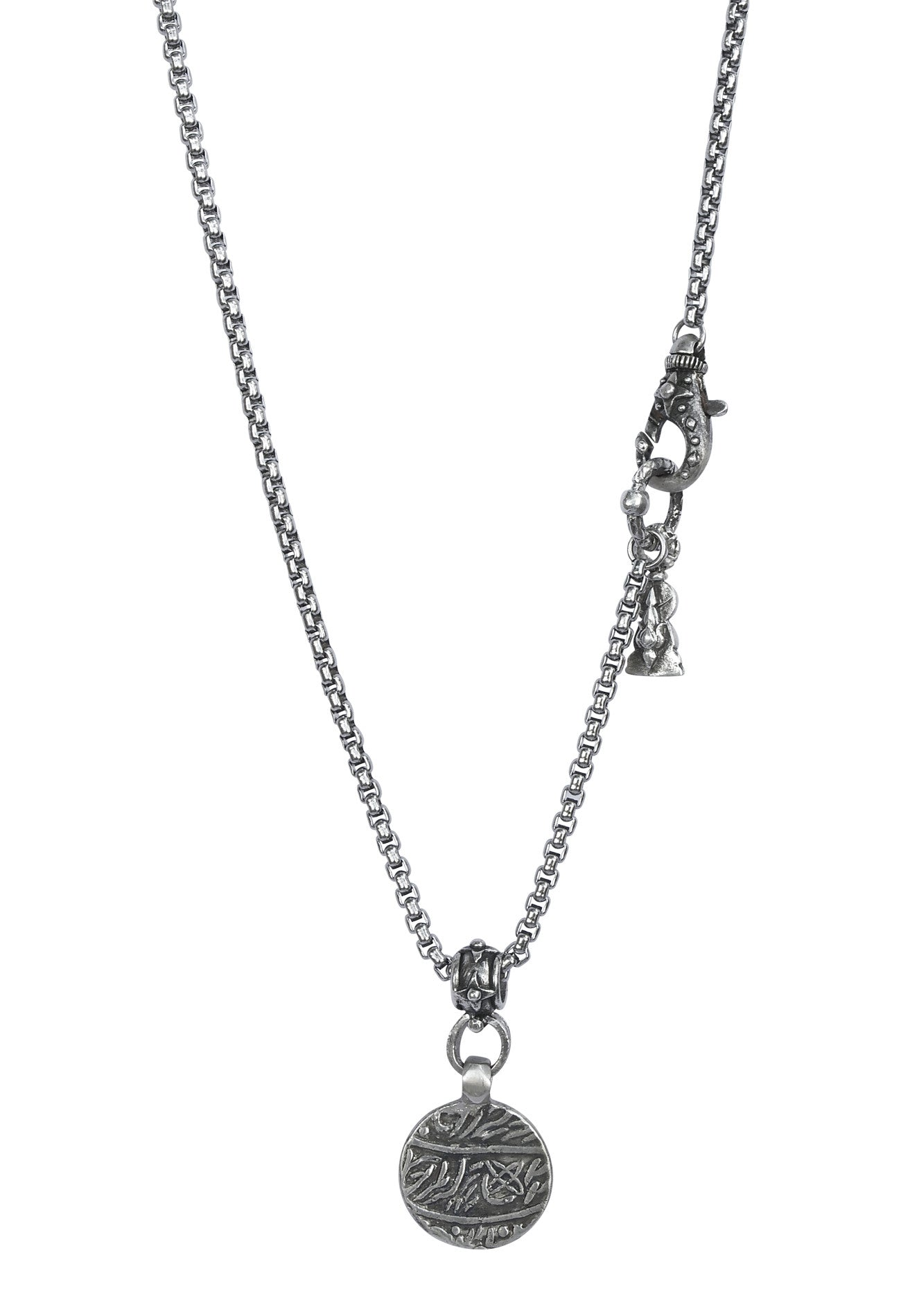 Sterling Prosperity Coin Necklace
