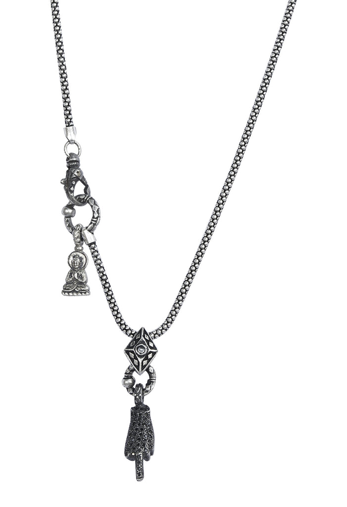 Silver and Sapphire FO Mac Daddy Necklace