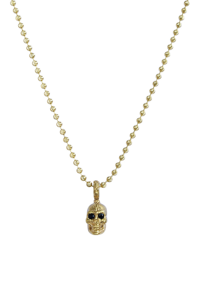 Black Sapphire Eyed Re-Birth Skull Necklace