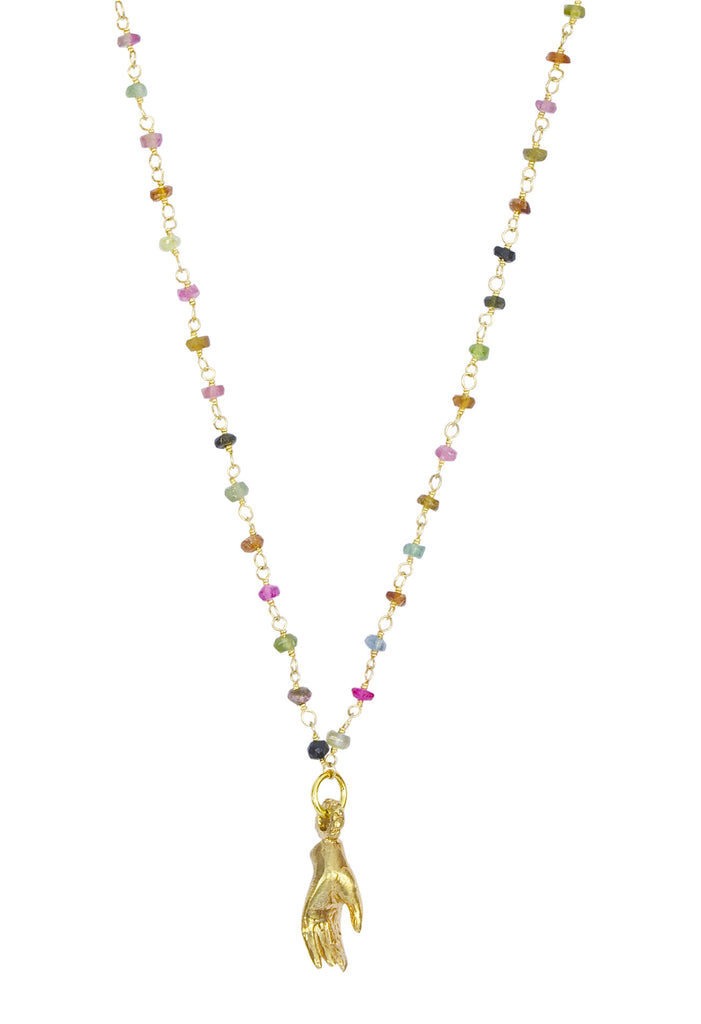 Tourmaline Compassions Gold Necklace