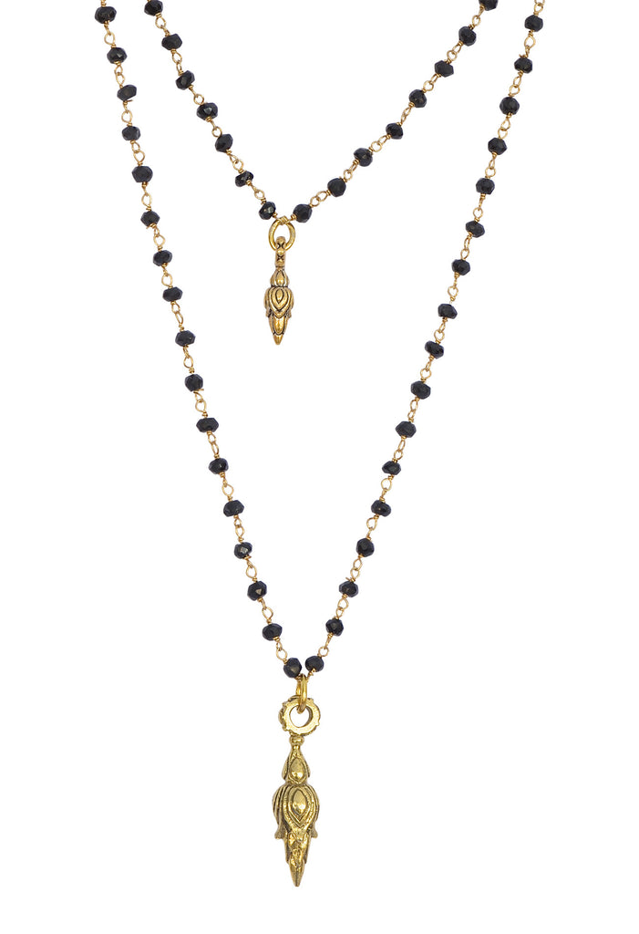 Black Onyx GoldTorch Gem-Chain Necklace