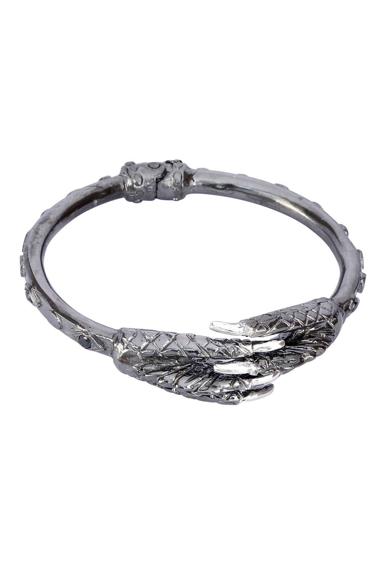 Rhodium and Silver Talon Cuff