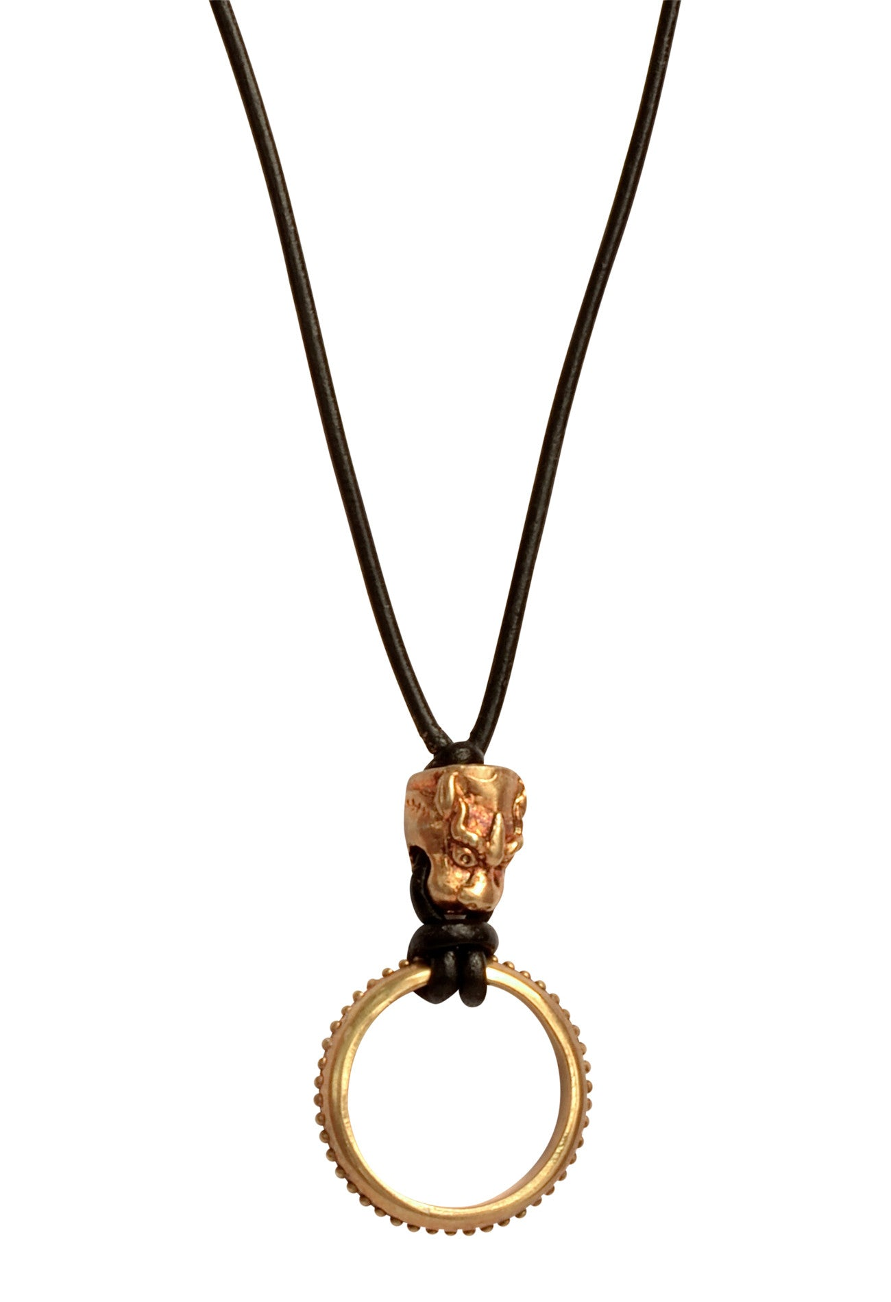 Foo Dog Dragon Eyering Necklace