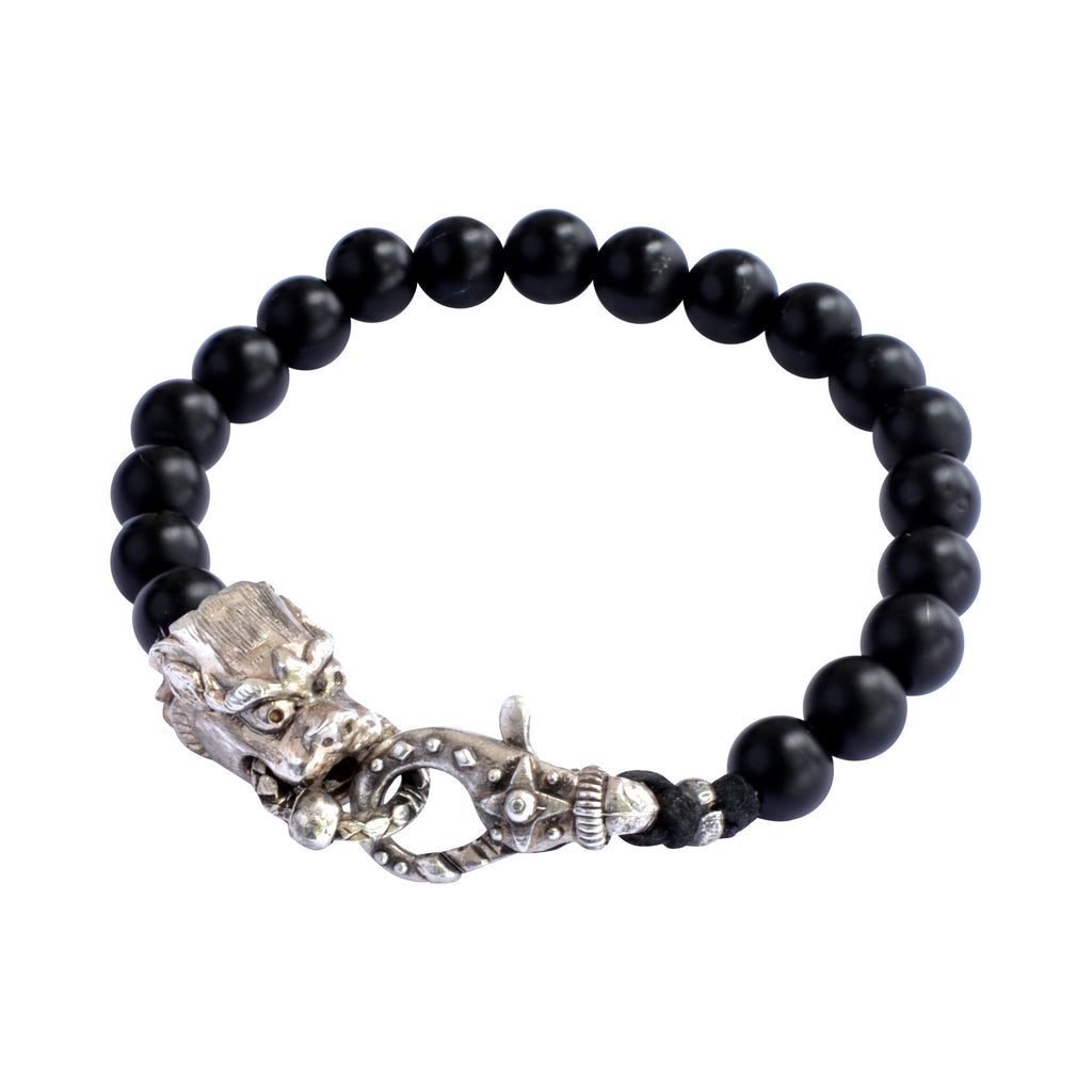 Black Onyx and Dragon Bracelet
