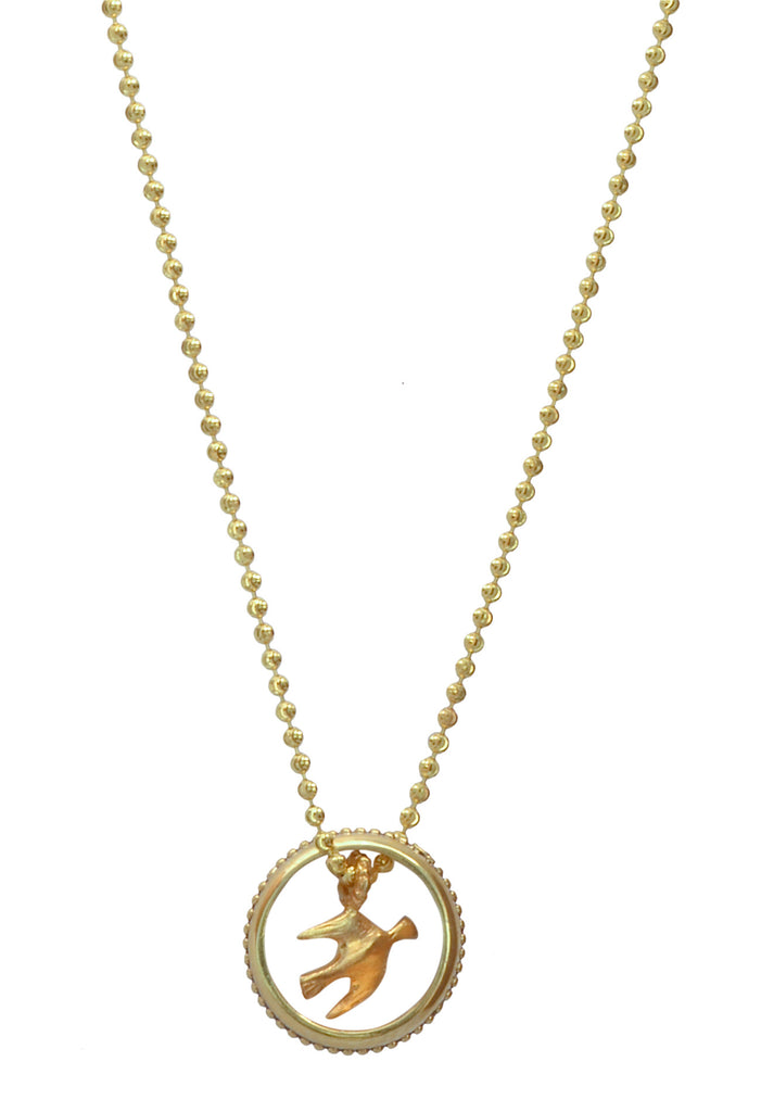 Golden Flight Eyering Necklace