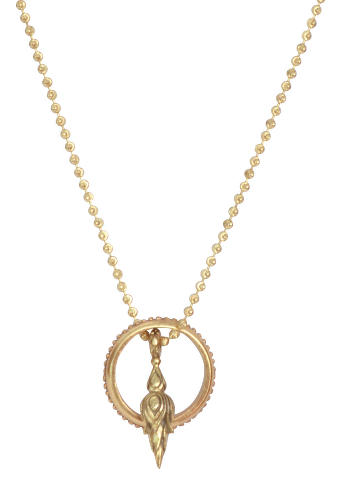 Golden Torch Of Love and Light EyeRing Necklace