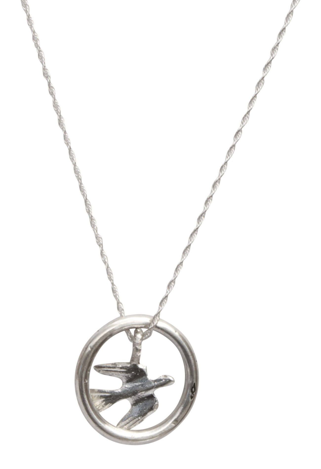 Bird In Flight Eyering Necklace