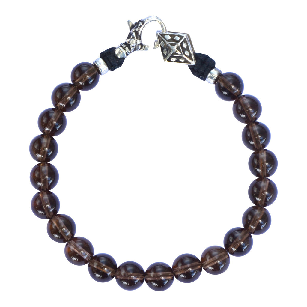 Smokey Topaz and Silver Bracelet
