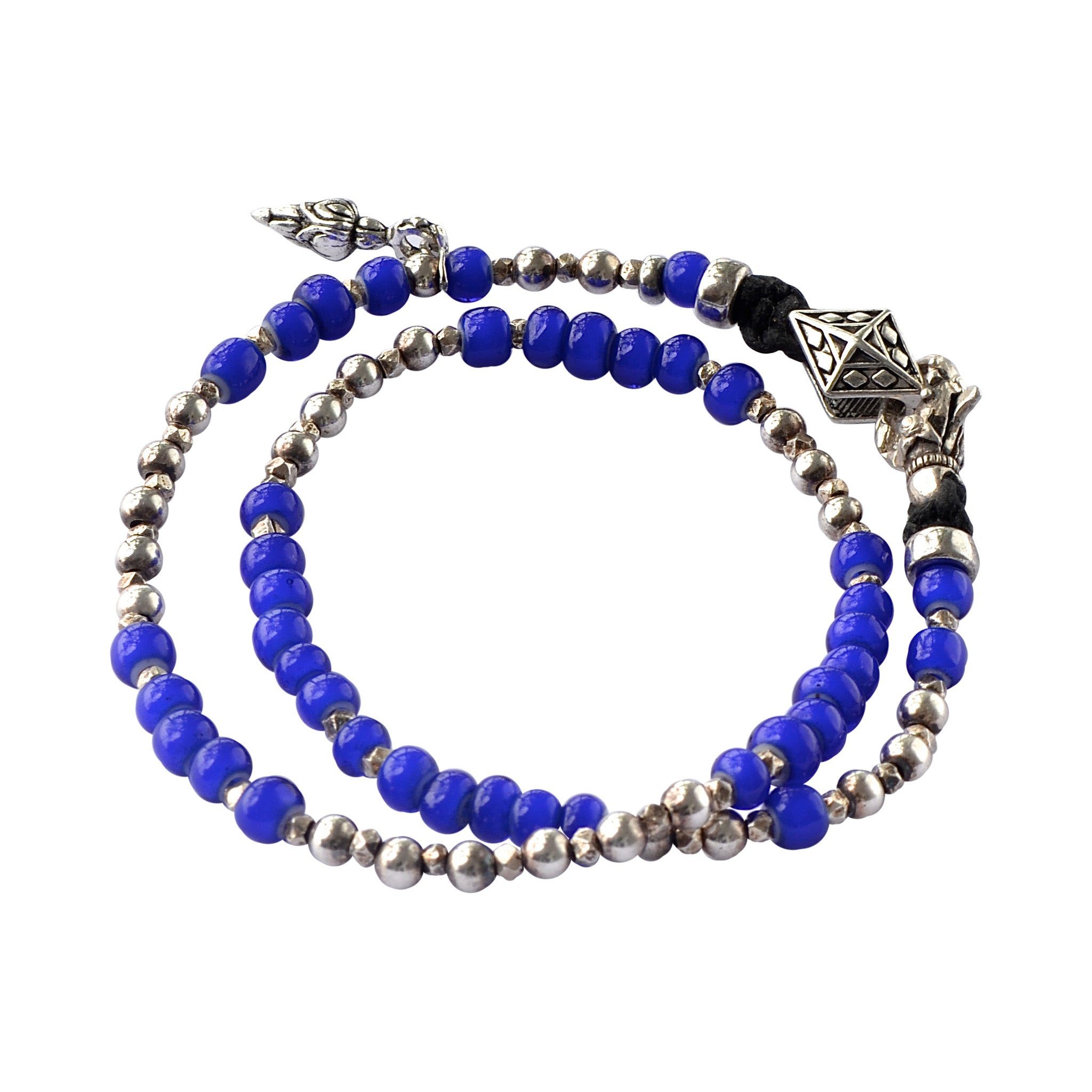 Conscious Cobalt and Sterling Silver Wrap Bracelet