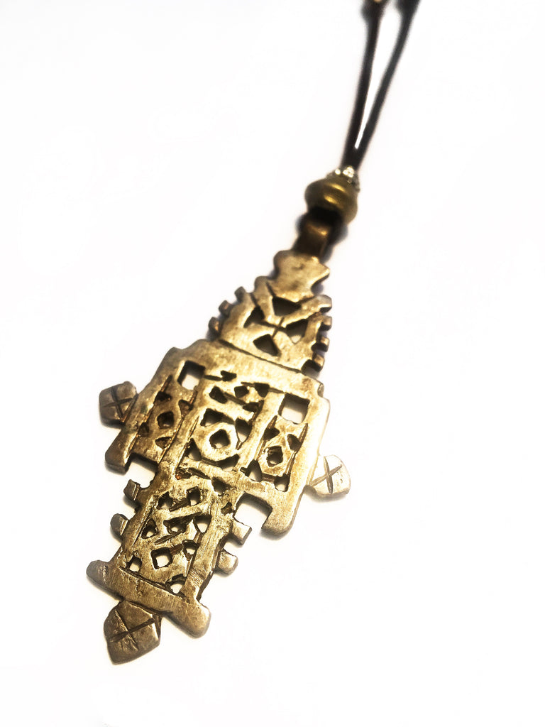 Bronze African Pendant Necklace