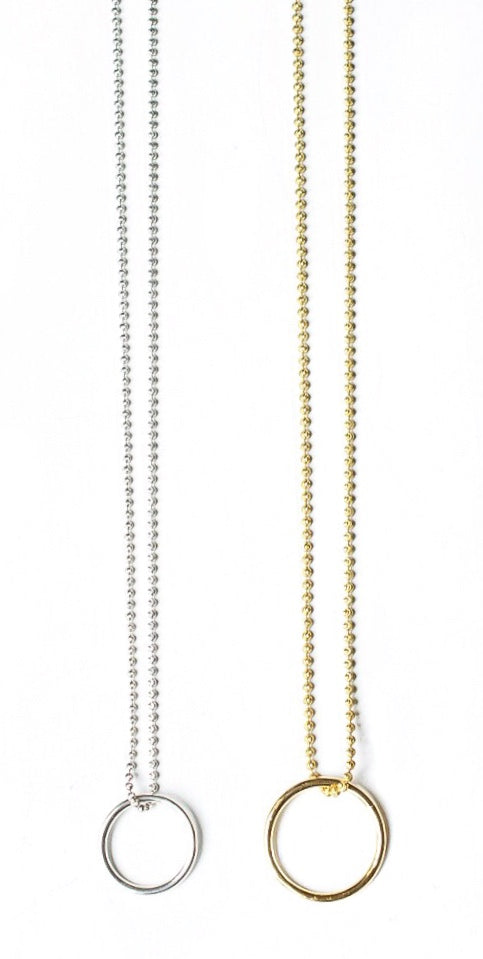 Silver Or Gold Eyering Chain