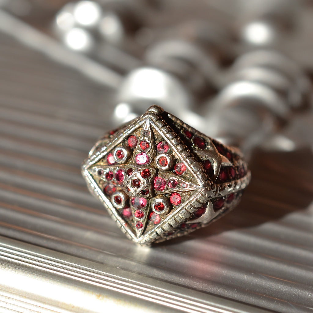 Ruby and Diamond Super Star Ring