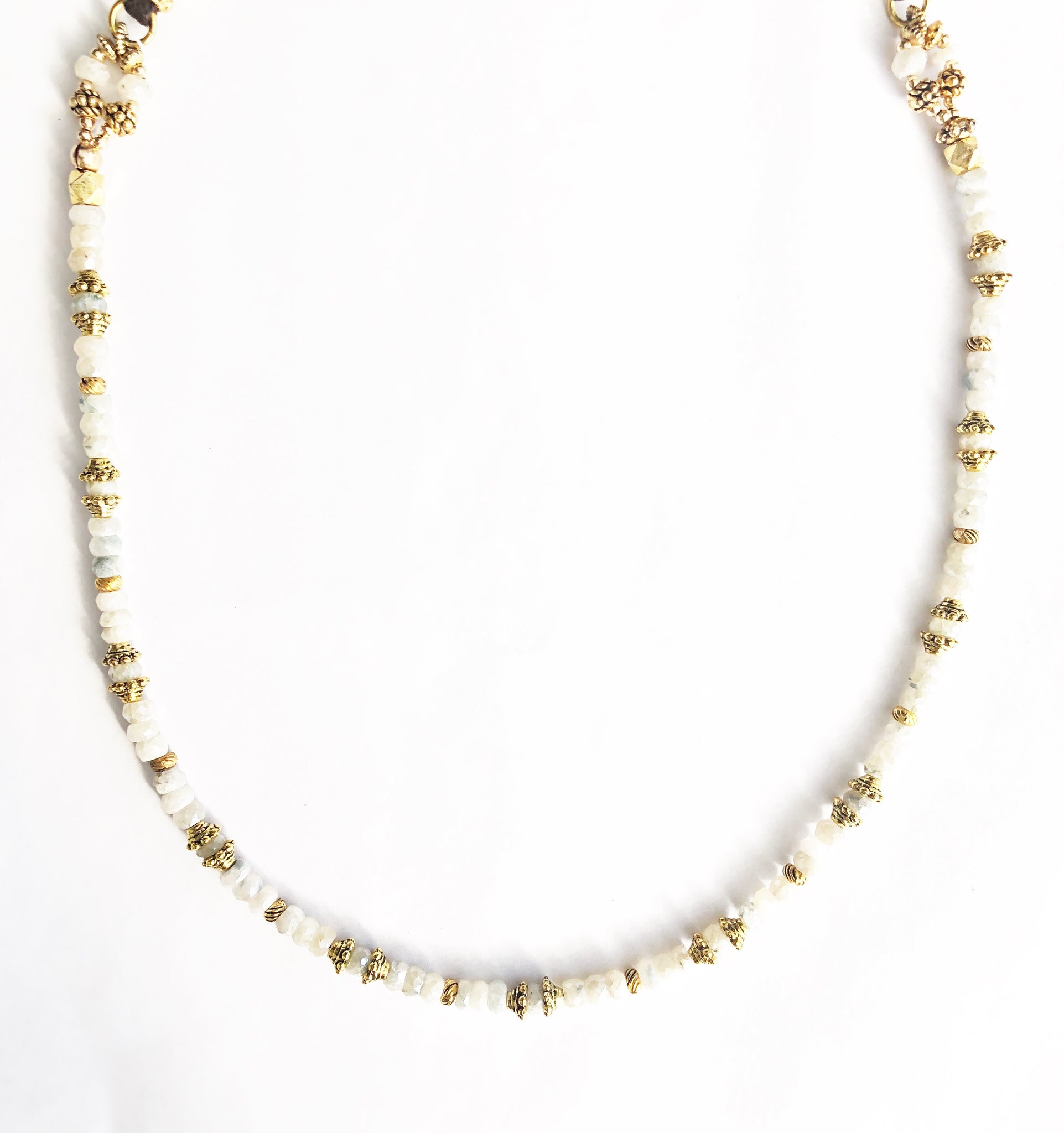 White and Gold Sapphirite Necklace