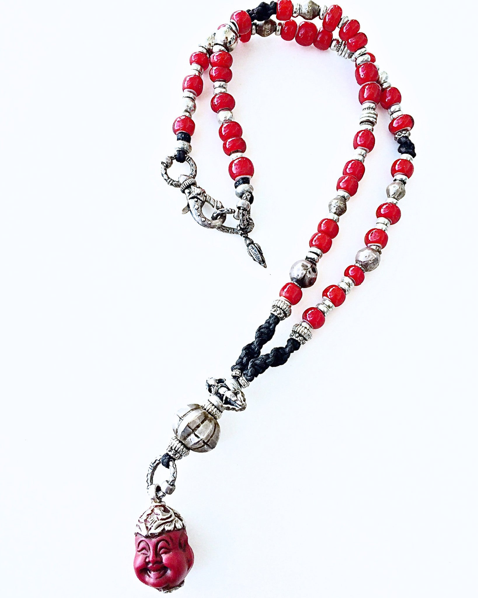 buddha joy red necklace