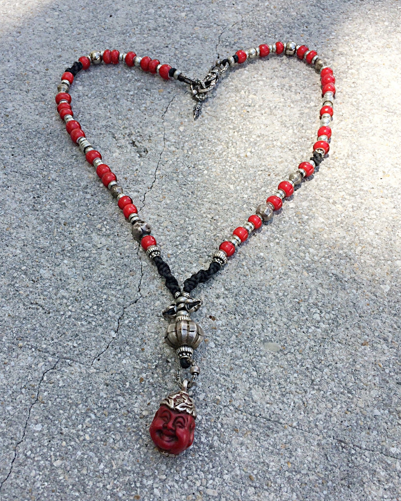 buddha joy heart necklace