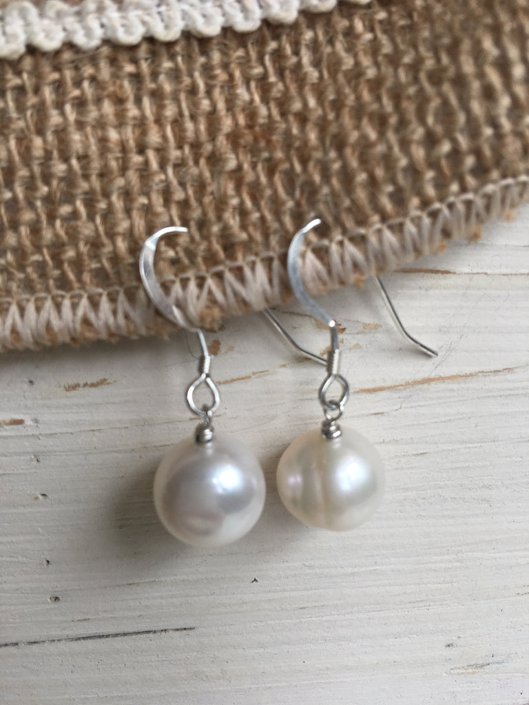 Sterling Silver & Pearl Dangles