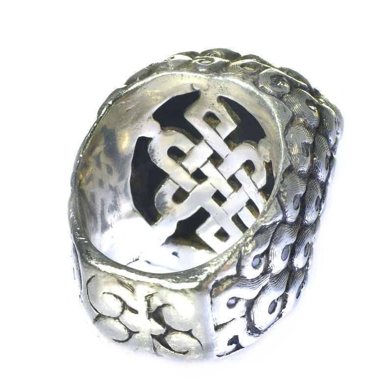 Sterling Silver Foo Dog Ring 2