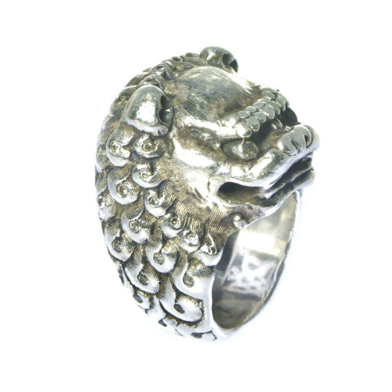 Sterling Silver Foo Dog Ring