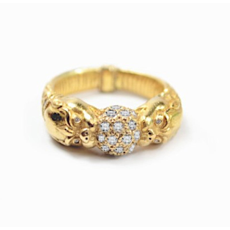 22k Golden World Ring