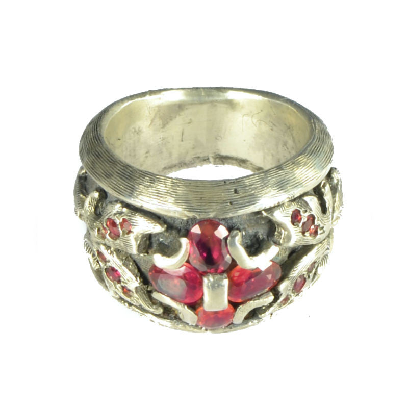 Red Sapphire Creed Ring 2
