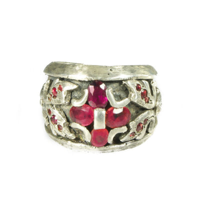 Red Sapphire Creed Ring