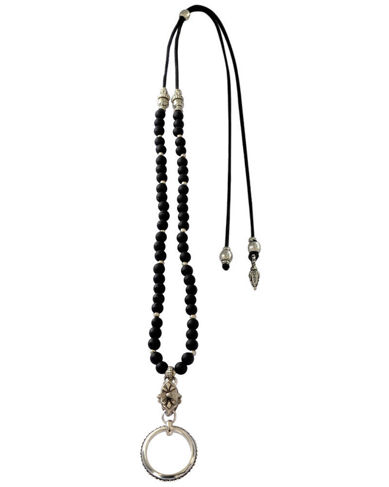 Black Onyx EyeGlass Necklace