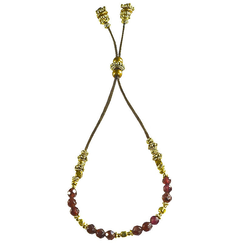 Garnet and Gold Elle Bracelet