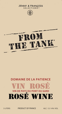 "Vin de France Rosé ""From The Tank"", Domaine de la Patience NV (3L bag-in-box)"