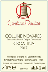 Colline Novaresi Croatina, Davide Carlone 2017