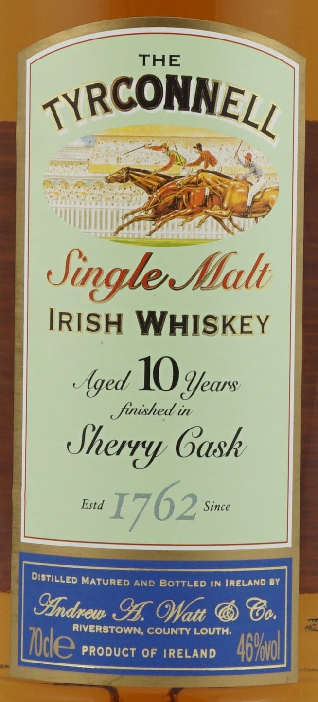 Tyrconnell Irish Whiskey Single Malt, Sherry Cask 92 (750ml)