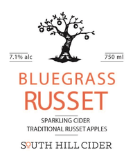 Bluegrass Russet Cider, South Hill Cidery 2017