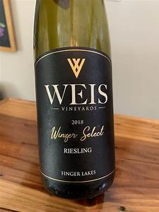 "Weis Vineyards Riesling ""Winzer Select-A"", Finger Lakes 2018"