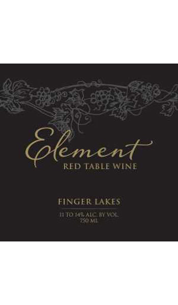 Element Red Table Wine, Finger Lakes 2012