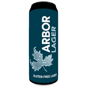 Arbor Lager (GLUTEN FREE) - 5.2% alc vol - Case of 12 Pints