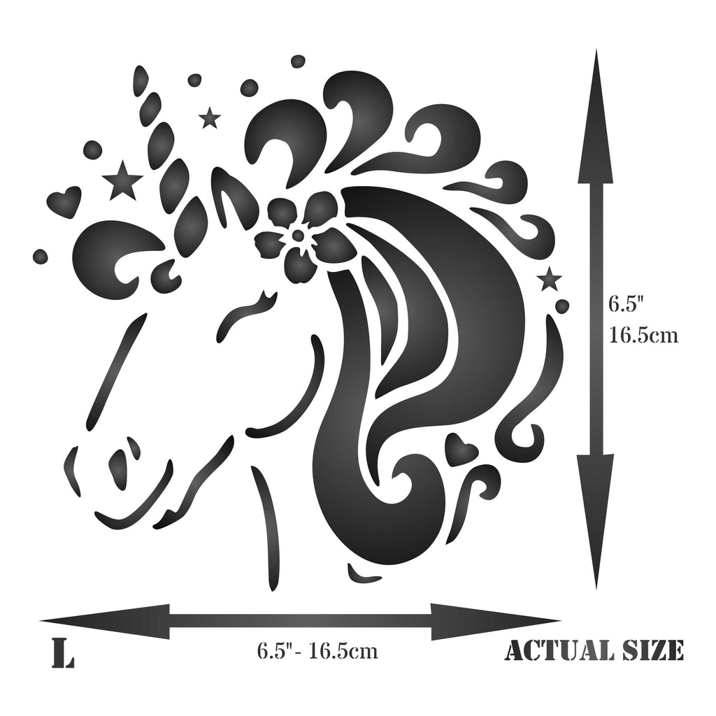 Unicorn Head Stencil