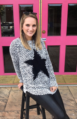 Star Sweater _ SPANX leather