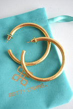 "BETTY CARRE 2"" GOLD HOOPS"