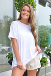 Z SUPPLY PALI TUNIC TEE - WHITE