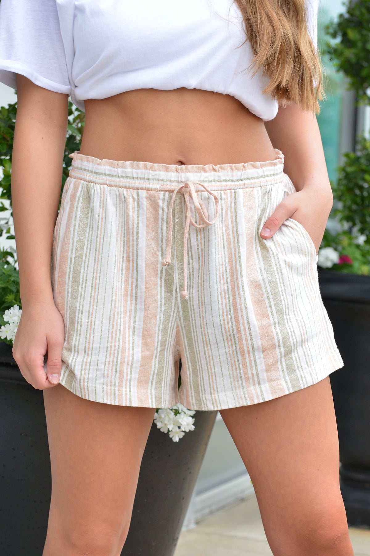 Z SUPPLY MILA STRIPE SHORTS