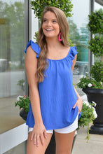 SASSY AND SWEET TOP - BLUE