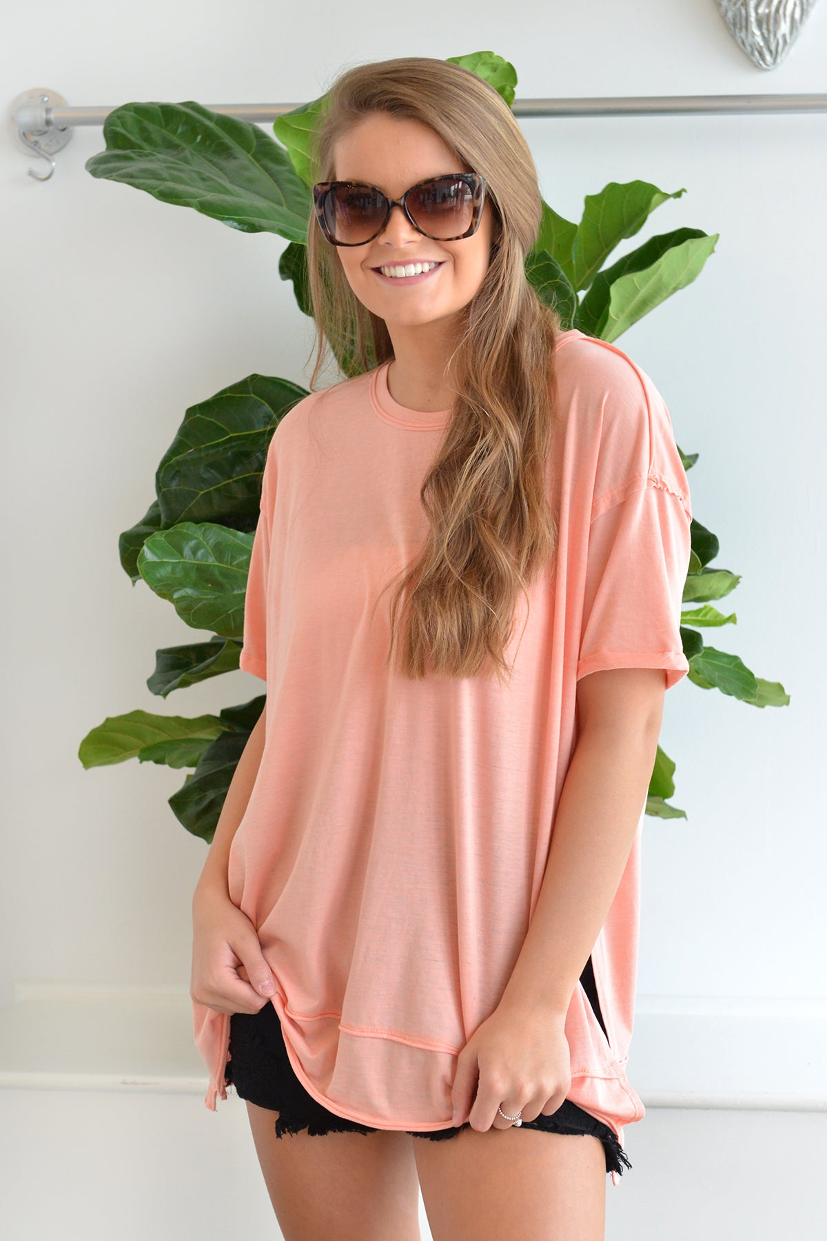 Z SUPPLY PALI TUNIC TEE - CORAL