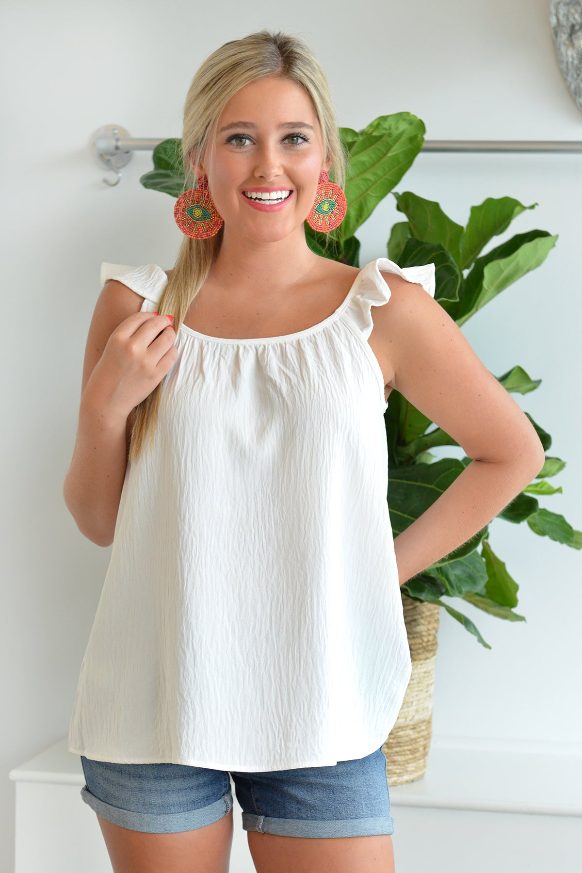 SASSY AND SWEET TOP - WHITE